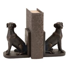 Polystone Dog Bookends (Set of 2)