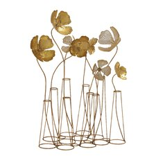 Metal Flower Table Wall Decor