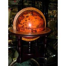 Old World Globe on Wood Base