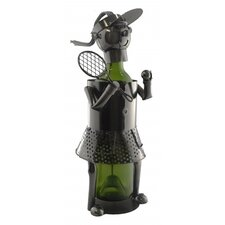 Woman Tennis Player 1 Bottle Tabletop Wine Rack