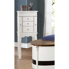 Cathy 3 Drawer Jewelry Armoire with Mirror