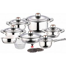 Swiss Inox 18 Piece Stainless Steel Cookware Set