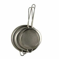 3 Piece Small Mesh Strainer Sifter Set