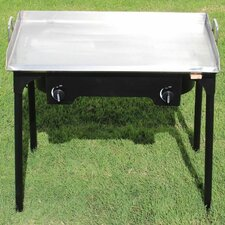 "32"" Gas Grill with Double Burner Stand"