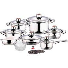 Swiss Inox 18 Piece Stainless Steel Cookware Set