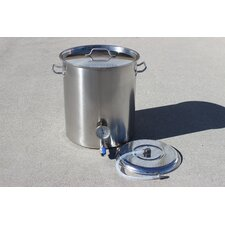 Stainless Steel 100 Qt. Home Mash Tun Brew Kettle with 2 Welded on Couplers