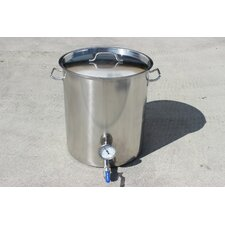 Stainless Steel 40 Qt. Home Brew Kettle with 2 Welded on Couplers