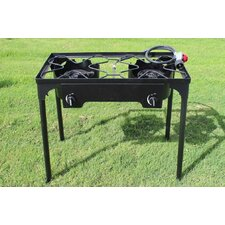 Double Burner Outdoor Stand Stove Cooker