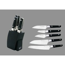 6 Piece Sushi Knives and Knife Block Set