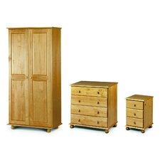 3-tlg. Schlafzimmer-Set Woodward