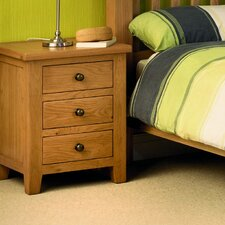 Hamptonburgh 3 Drawer Bedside Table