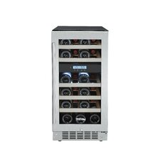 23 Bottle Dual Zone Built-In Wine Refrigerator