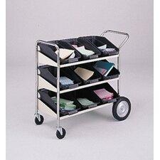 3 Shelf Mobile Bin File Cart