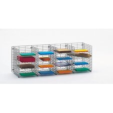 16 Pockets Wall Hung Wire Sorter