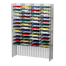 48 Adjustable Pockets Wire Mail Sorter and Riser