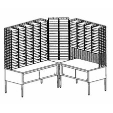 """""""L"""" Shape 116 Pockets with Riser and Storage Tables"""