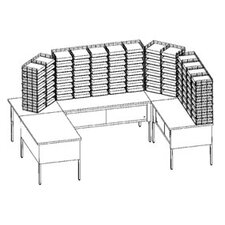 U-Shape 104 Pocket Storage Table