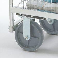Premium Grey Heavy Duty Stationary Plate Caster