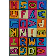 Kinderteppich Buchstaben in Bunt