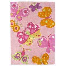 Kinderteppich Butterfly in Pink