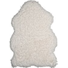 Handgetufteter Teppich Plushy in Weiß