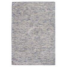 Handgewebter Teppich Cary in Bunt/ Blau