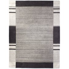Handgetufteter Teppich Poona in Grau