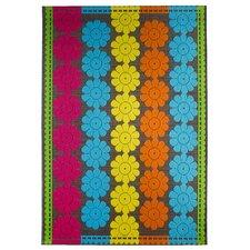 Teppich Samba in Blau/Rosa