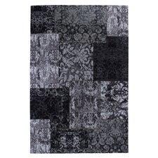Teppich Barock in Schwarz / Weiß