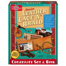 Genuine Leather Lace 'N Braid Creativity Set and Book