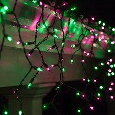 150 Purple/Green Mini Icicle Light String