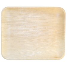 "12.5"" Compostable and Sustainable Fallen Palm Leaf Plate (Set of 10)"