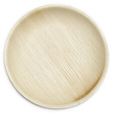 "6"" Compostable and Eco Friendly Palm Leaf Appetizer Plate (Set of 25)"