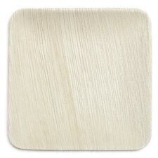 "8"" Compostable Eco Friendly Palm Leaf Plate (Set of 25)"
