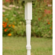 Wood Pedestal Birdhouse Pole