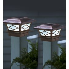 Classic Solar Fence Post Cap (Set of 2)