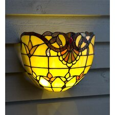 Scalloped Edge Stained Glass Sconce