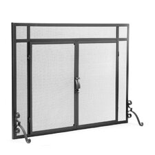 Solid Steel 1 Panel Fireplace Screen