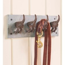 Slate and Cast Iron Dog Tail Leash Holder