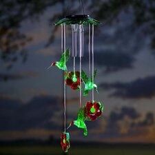 Hummingbirds Solar Mobile Wind Chime
