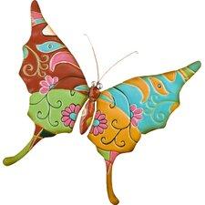 Metal Talavera-Inspired Butterfly Wall Decor