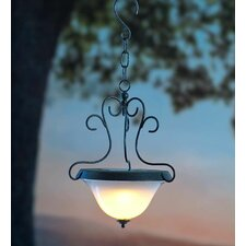 Scrollwork Solar 1 Light Outdoor Pendant