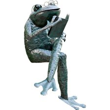 Recycled Metal Jr. Reading Frog