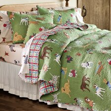 King Doggone Good Time Quilt Set with Shams