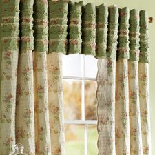 Charlotte Ruffled Cotton Quilted Window Curtain Valance