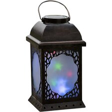 Small Twirling Moravian Star Solar Lantern
