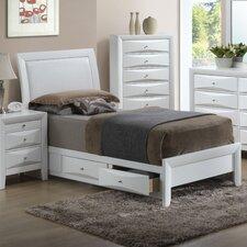 Gemini Upholstered Storage Platform Bed