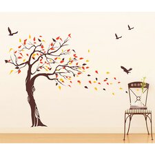 Beautiful Tree and Birds Wall Decal