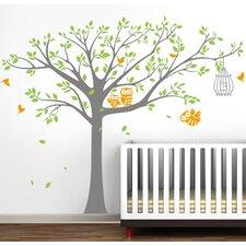 Nursery Tree with Cute Owls Wall Decal