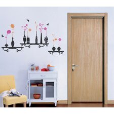 Flowers and Vases Removable Vinyl Art Wall Decal
